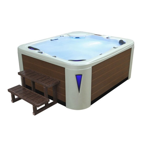 EO-SPA Aussenwhirlpool IN-591 premium extreme WhitePearlescent 220x186 braun
