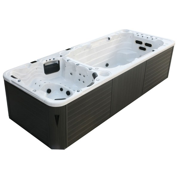 Swim-SPA AWT Innovation 5.8 Dual SterlingSilver 580x230 grau