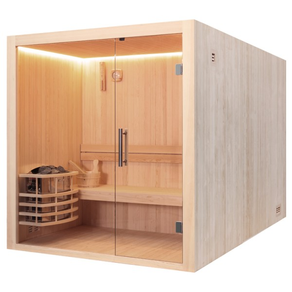 sauna awt e1803c pinienholz 120x120 6kw vega online kaufen. Black Bedroom Furniture Sets. Home Design Ideas