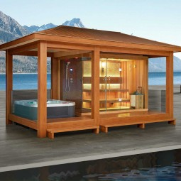 all in one gartensauna mit whirlpool und dusche blog eago deutschland. Black Bedroom Furniture Sets. Home Design Ideas