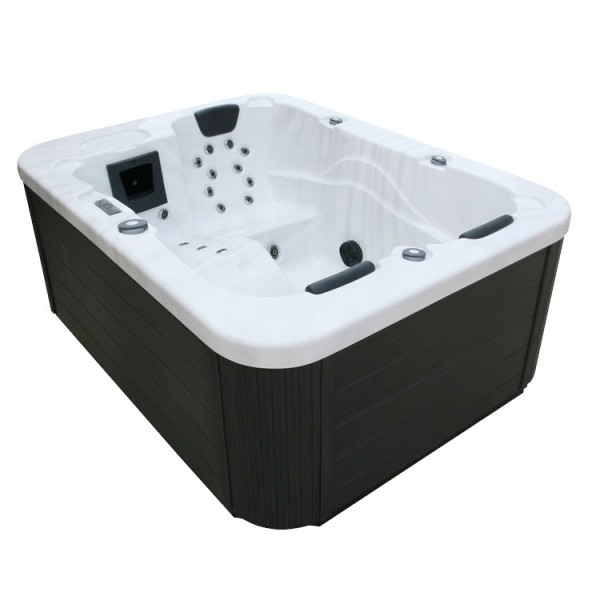 EO-SPA Whirlpool Aussenwhirlpool IN-100 Sterling Silver 210x160 grau