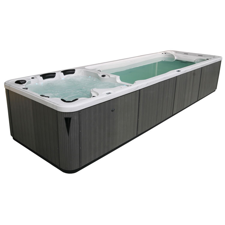 eo spa aussenwhirlpool swim spa aquacise 7 5 sterlingsilver 750x230 grau. Black Bedroom Furniture Sets. Home Design Ideas