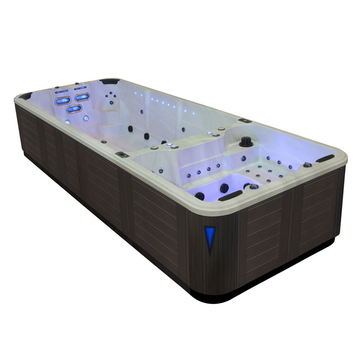 eo spa swim spa in s06 extreme silvermarble 585x220 grau ebay. Black Bedroom Furniture Sets. Home Design Ideas